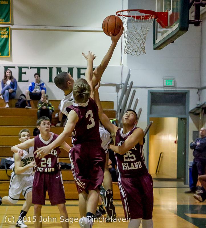 2350 Boys JV Basketball v Mercer-Isl 012516