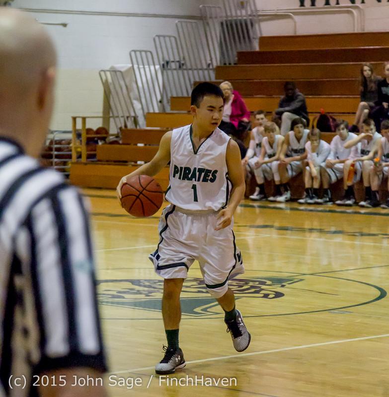 2412 Boys JV Basketball v Mercer-Isl 012516