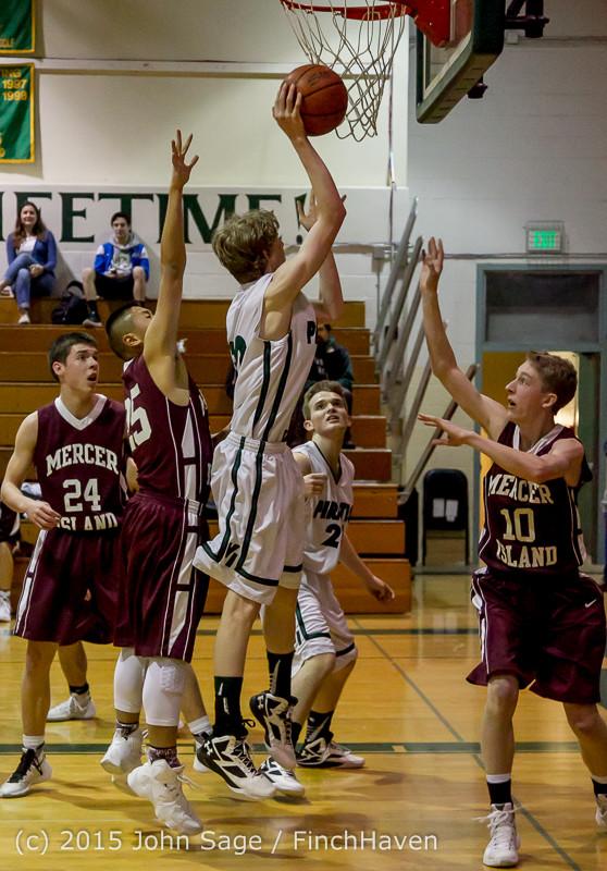 2424 Boys JV Basketball v Mercer-Isl 012516