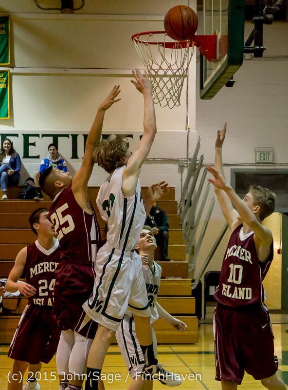 2425 Boys JV Basketball v Mercer-Isl 012516