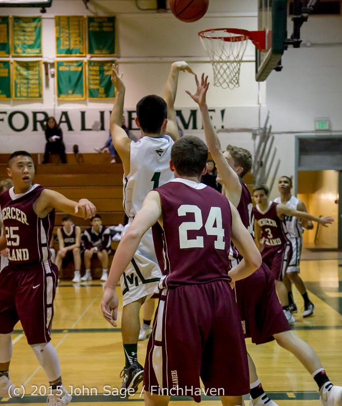 2493 Boys JV Basketball v Mercer-Isl 012516