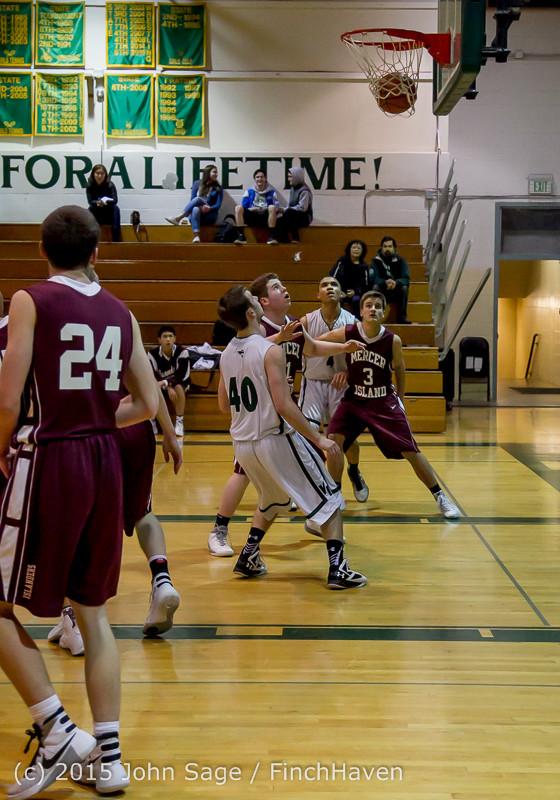2501 Boys JV Basketball v Mercer-Isl 012516