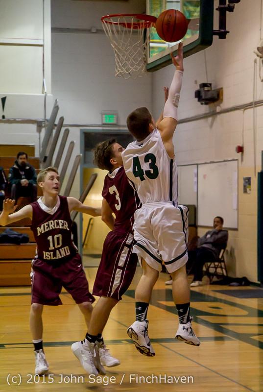 2526 Boys JV Basketball v Mercer-Isl 012516