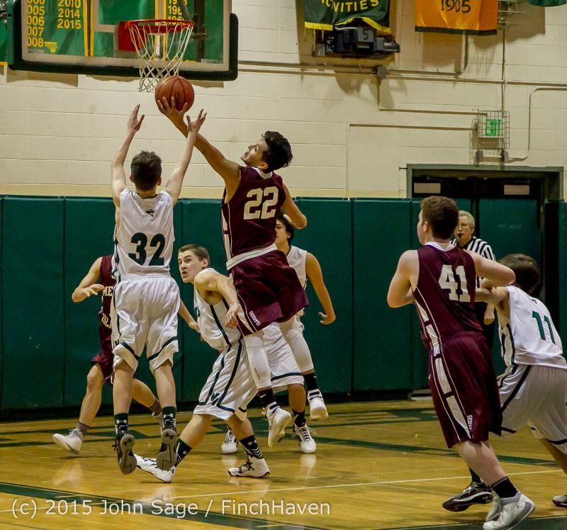 2550 Boys JV Basketball v Mercer-Isl 012516