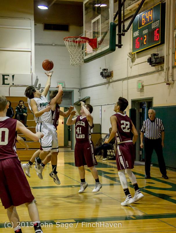 2572 Boys JV Basketball v Mercer-Isl 012516