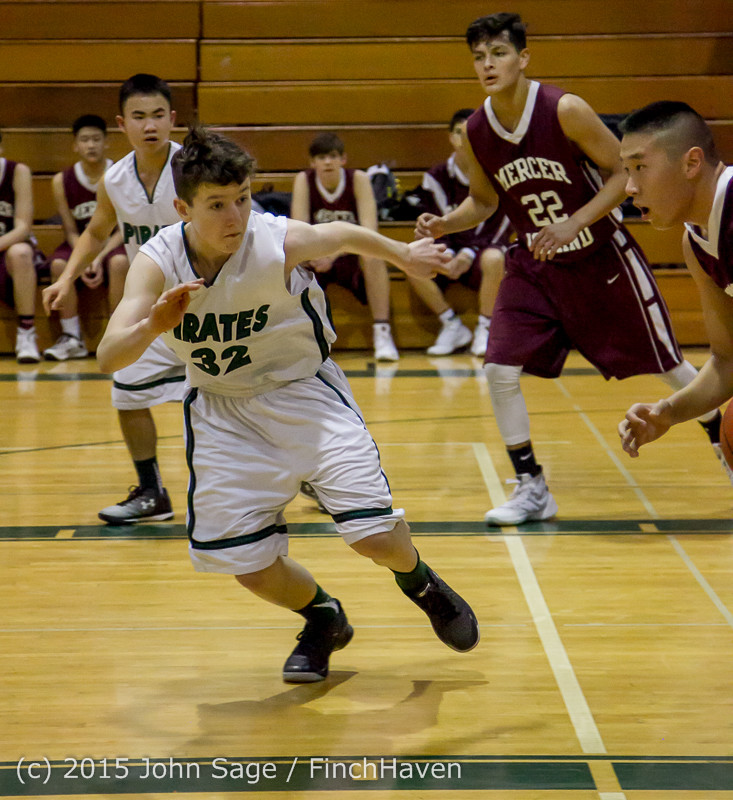 2666 Boys JV Basketball v Mercer-Isl 012516