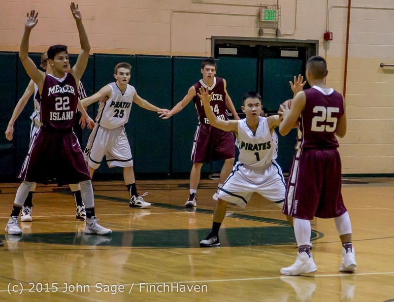 2677 Boys JV Basketball v Mercer-Isl 012516