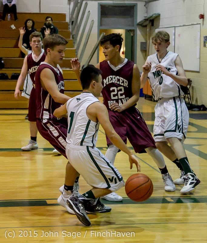 2733 Boys JV Basketball v Mercer-Isl 012516