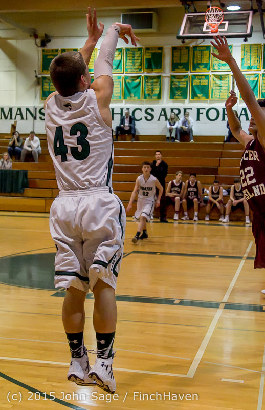 2756 Boys JV Basketball v Mercer-Isl 012516