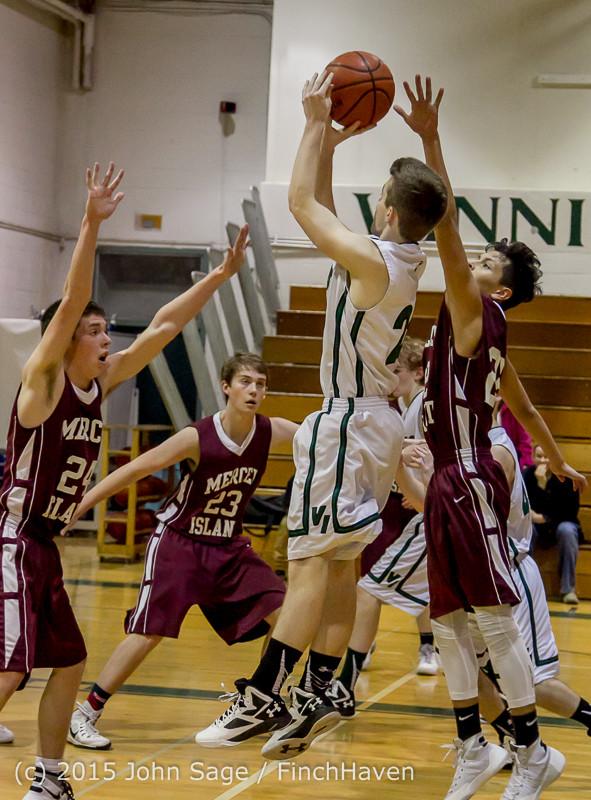 2792 Boys JV Basketball v Mercer-Isl 012516