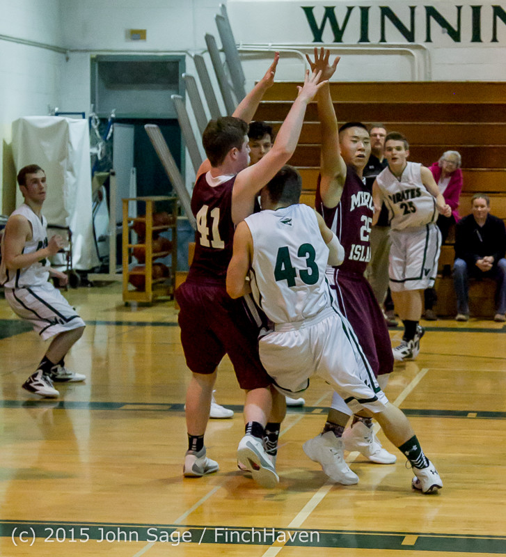2800 Boys JV Basketball v Mercer-Isl 012516