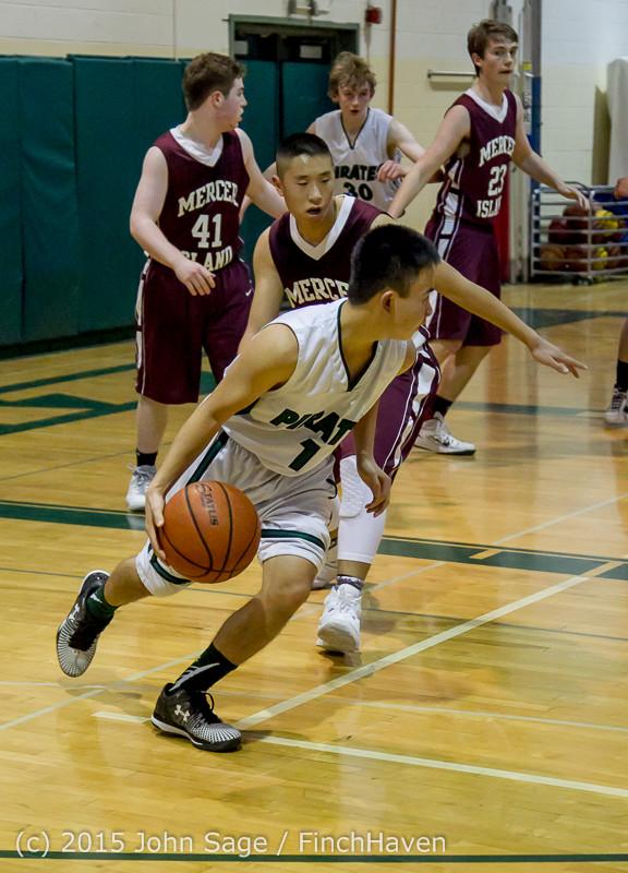 2831 Boys JV Basketball v Mercer-Isl 012516