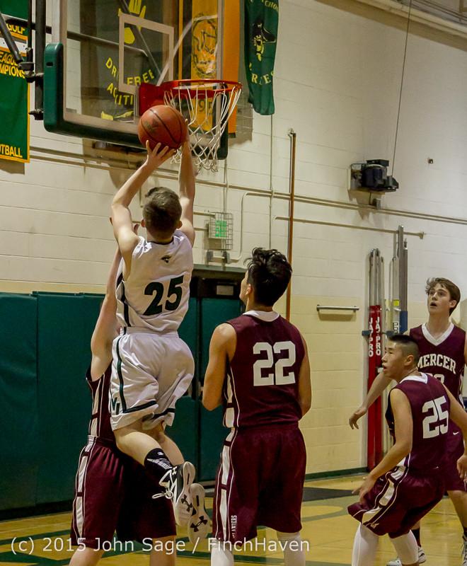 2839 Boys JV Basketball v Mercer-Isl 012516