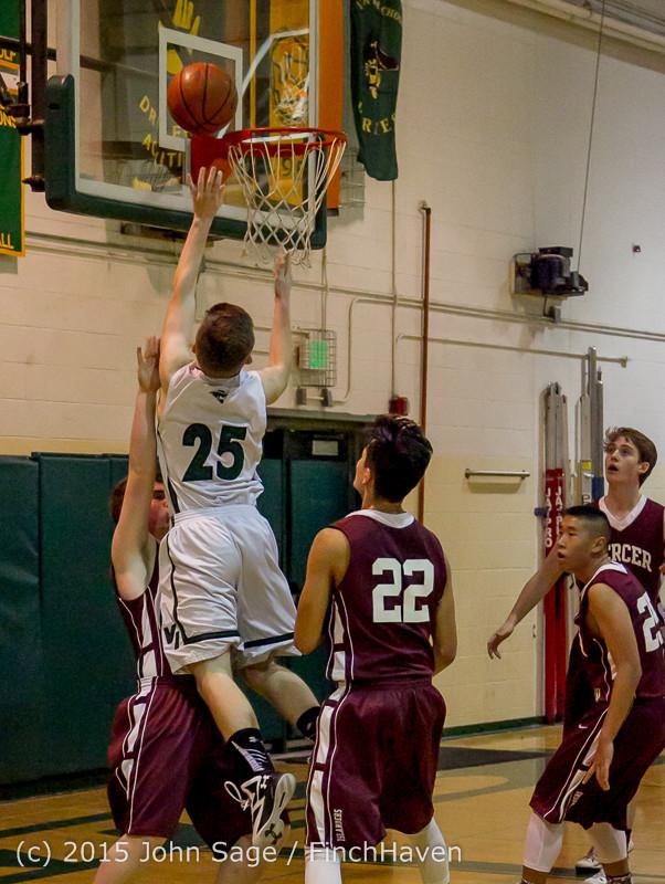 2840 Boys JV Basketball v Mercer-Isl 012516