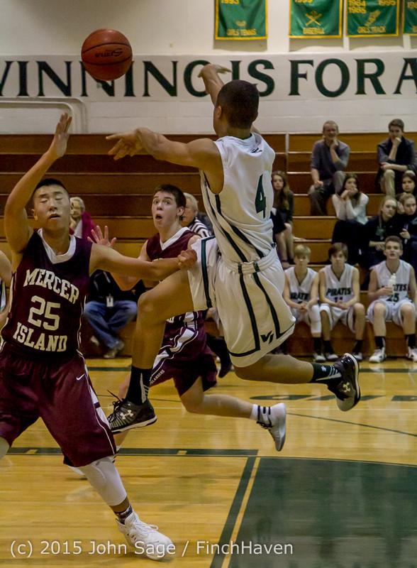 2871 Boys JV Basketball v Mercer-Isl 012516