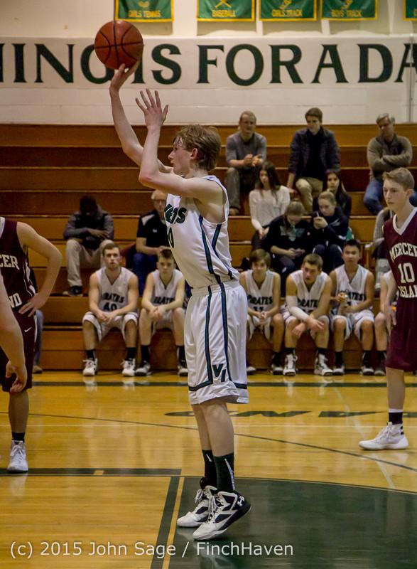 2956 Boys JV Basketball v Mercer-Isl 012516