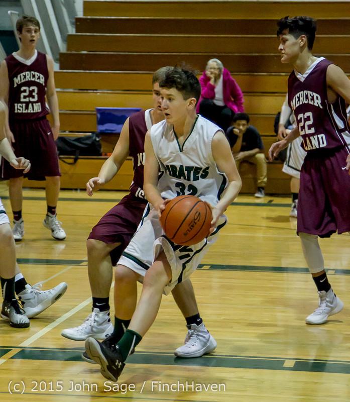 3004 Boys JV Basketball v Mercer-Isl 012516