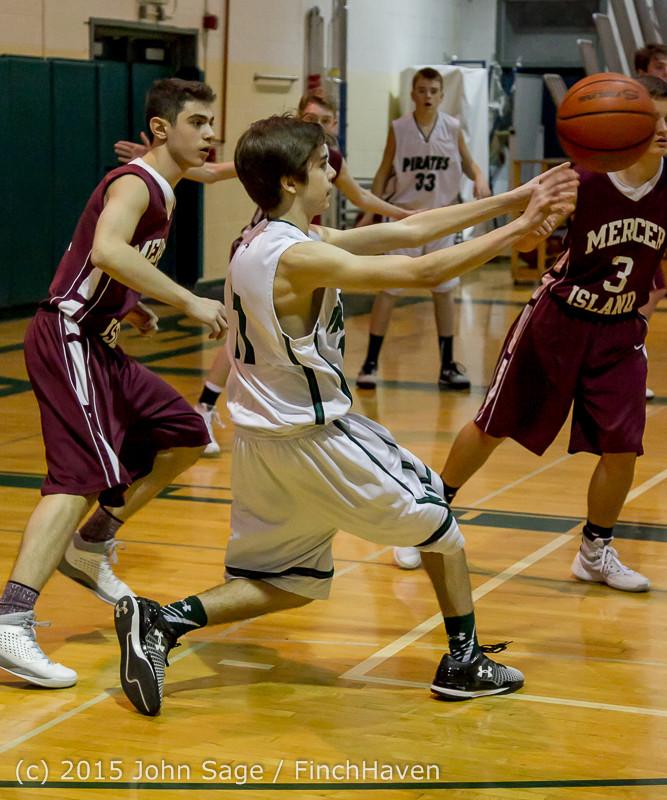 3016 Boys JV Basketball v Mercer-Isl 012516