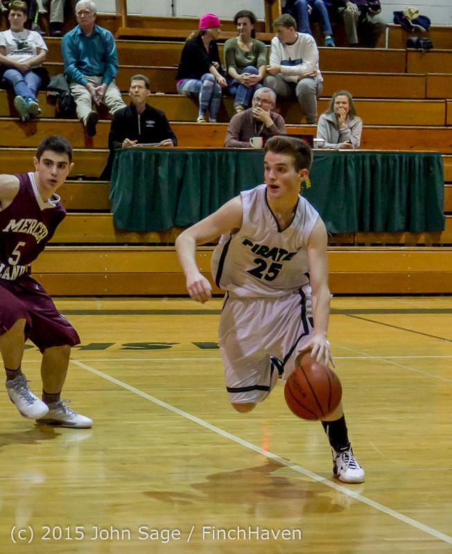 3023 Boys JV Basketball v Mercer-Isl 012516