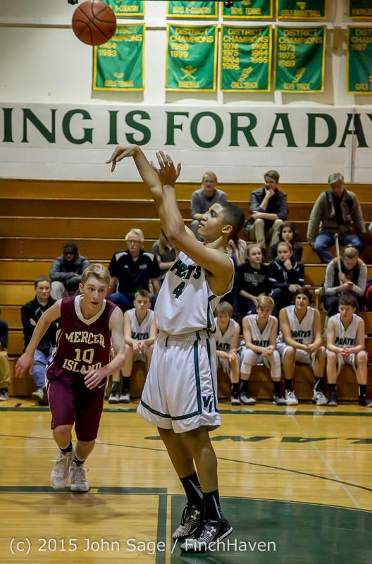 3101 Boys JV Basketball v Mercer-Isl 012516