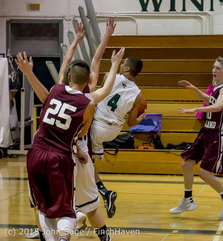 3147 Boys JV Basketball v Mercer-Isl 012516