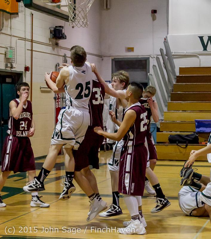 3164 Boys JV Basketball v Mercer-Isl 012516