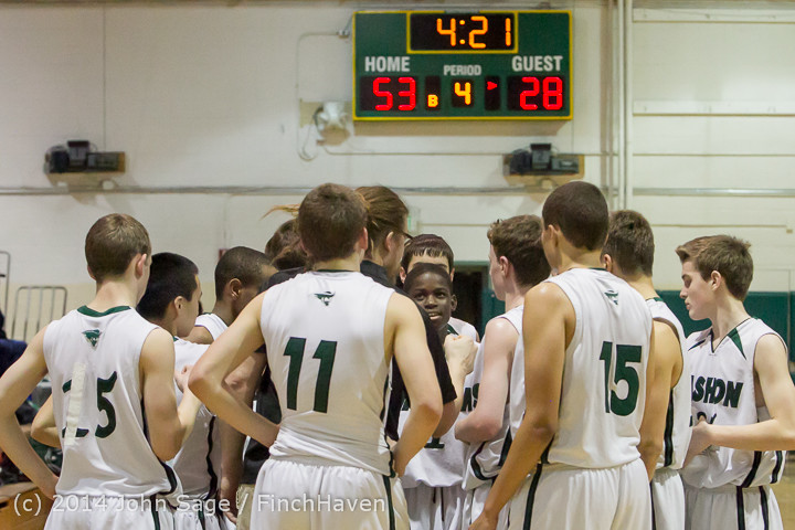 17444 Boys JV Basketball v CWA 01172014