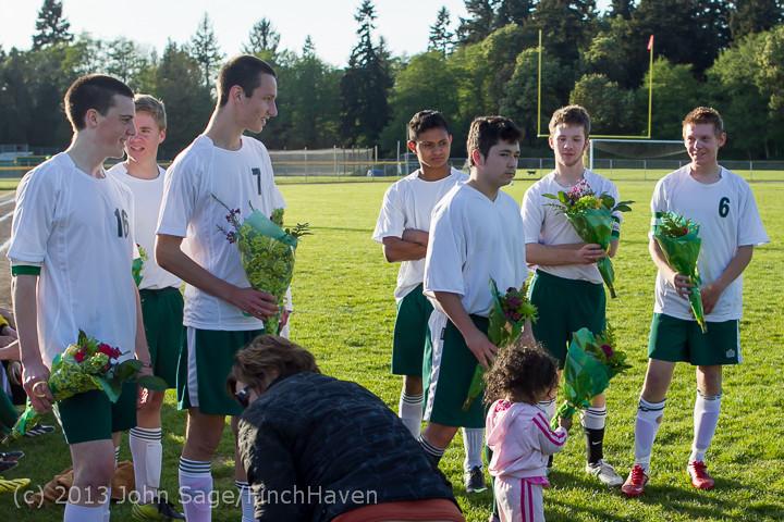 20240 Boys Soccer v Life-Chr Seniors Night 050113