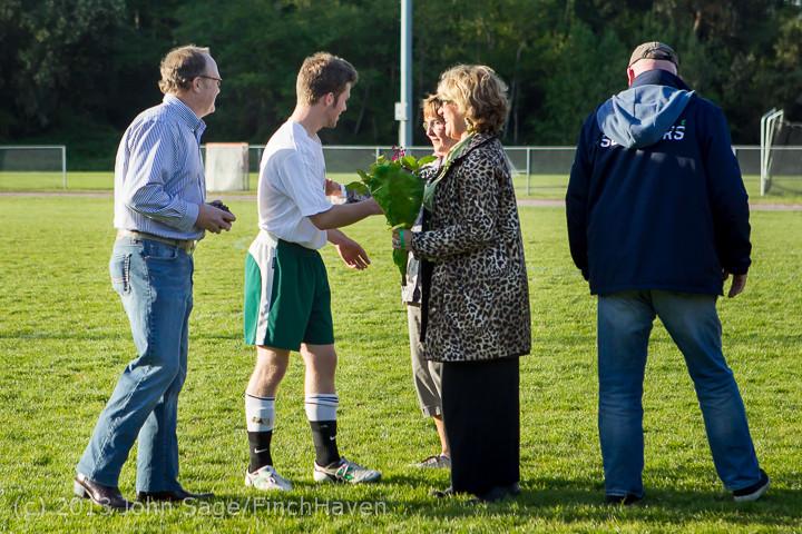 20256 Boys Soccer v Life-Chr Seniors Night 050113