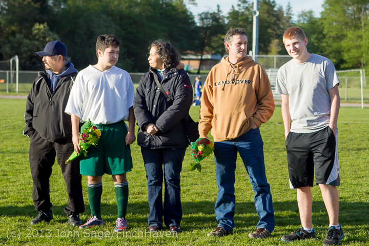 20266 Boys Soccer v Life-Chr Seniors Night 050113