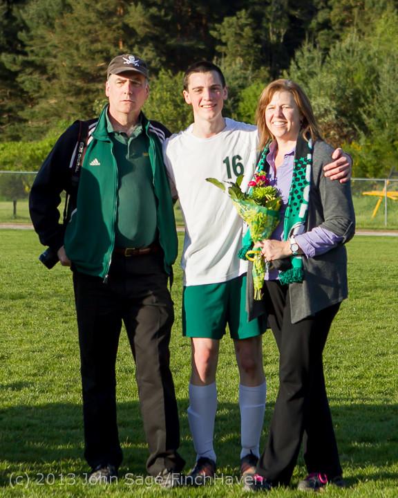 20288 Boys Soccer v Life-Chr Seniors Night 050113