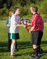 20298 Boys Soccer v Life-Chr Seniors Night 050113