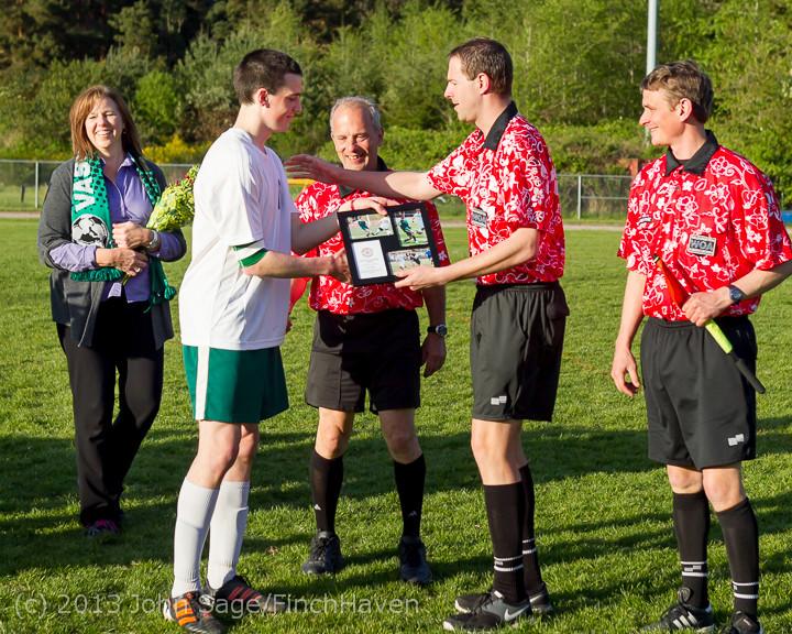 20301 Boys Soccer v Life-Chr Seniors Night 050113