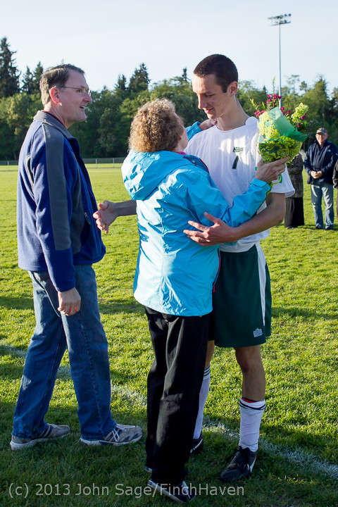20355 Boys Soccer v Life-Chr Seniors Night 050113