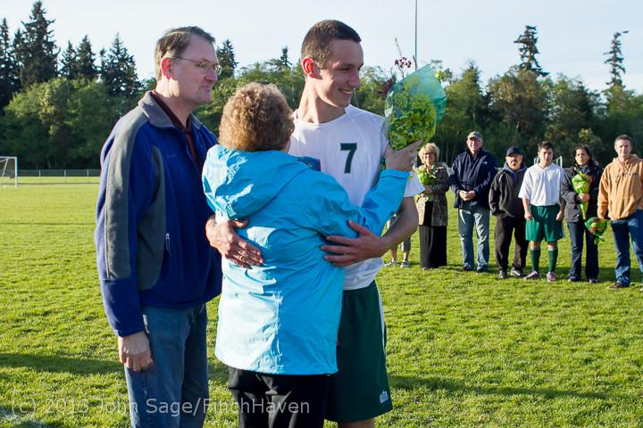 20356 Boys Soccer v Life-Chr Seniors Night 050113