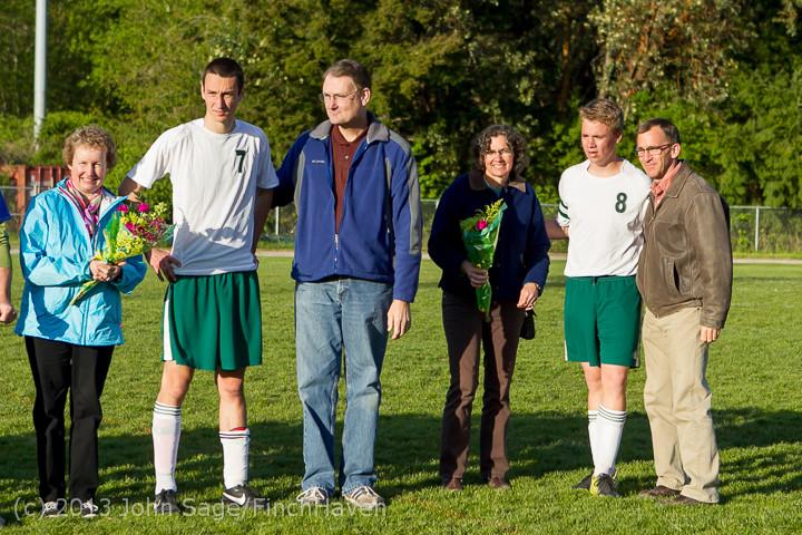 20380 Boys Soccer v Life-Chr Seniors Night 050113