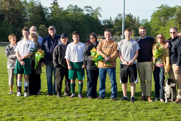 20415 Boys Soccer v Life-Chr Seniors Night 050113