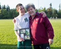 20444 Boys Soccer v Life-Chr Seniors Night 050113