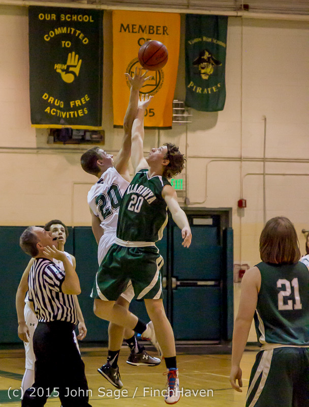 17367 Boys Varsity Basketball v Klahowya 120915