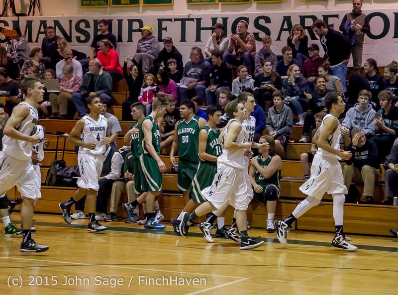 18448 Boys Varsity Basketball v Klahowya 120915