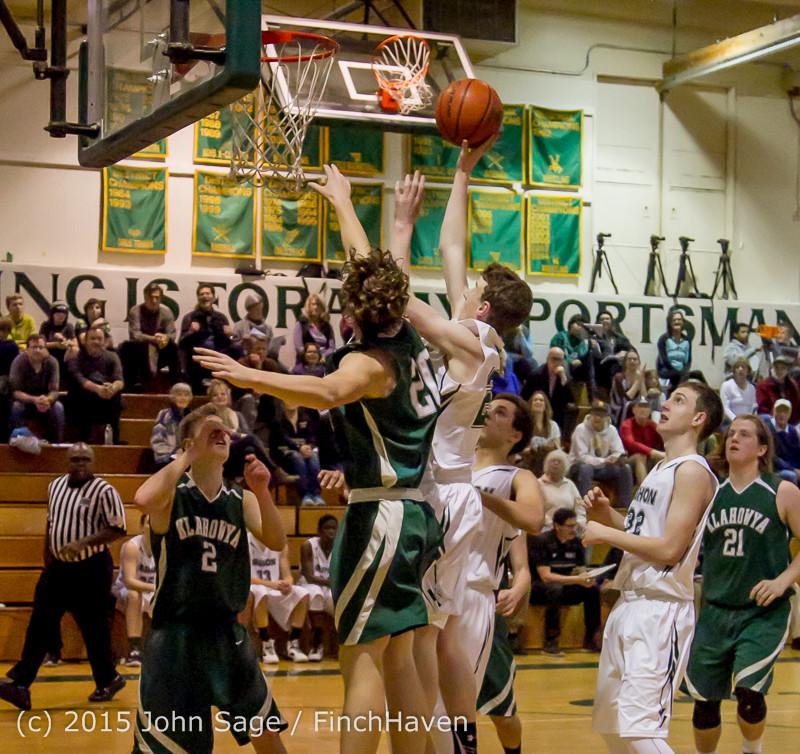 18614 Boys Varsity Basketball v Klahowya 120915