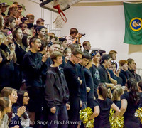 5633 Cheer and Black-Out at BBall v Granite Falls 120214