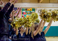5772 Cheer and Black-Out at BBall v Granite Falls 120214