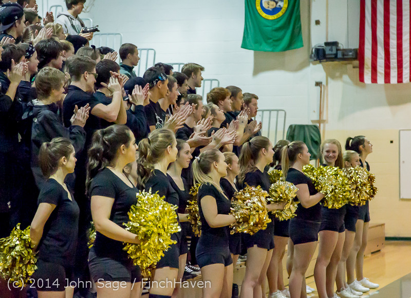 5980 Cheer and Black-Out at BBall v Granite Falls 120214