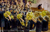 6331 Cheer and Black-Out at BBall v Granite Falls 120214