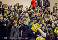6340 Cheer and Black-Out at BBall v Granite Falls 120214