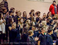 6344 Cheer and Black-Out at BBall v Granite Falls 120214