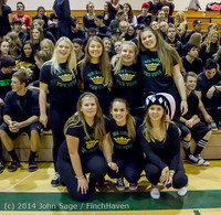 6374 Cheer and Black-Out at BBall v Granite Falls 120214