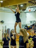 6543 Cheer and Black-Out at BBall v Granite Falls 120214