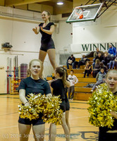 6552 Cheer and Black-Out at BBall v Granite Falls 120214